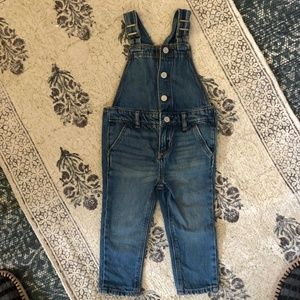Baby Gap Snap front overalls Medium Indigo